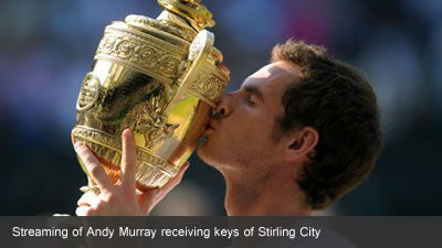 IFDNRG web cast Andy Murray gettign the freedom of Stirling